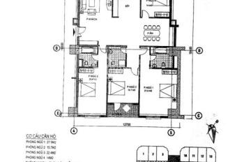Bán căn 4PN, 196m2 tòa HH2 Bắc Hà, tầng trung. LH 0963289215