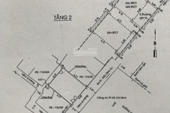 Bán nhà hẻm thông hẻm Nguyễn Trãi, 1 trục thông hẻm 115 Trần Đình Xu, Quận 1
