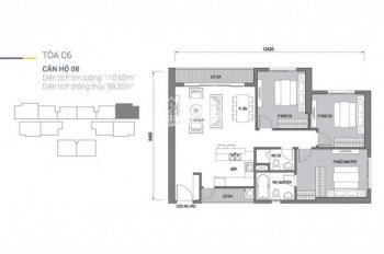 Dự án Vinhomes D'Capitale: Bán căn hộ 110m2, căn góc 3 phòng ngủ toà C6, C7 giá 4.7 tỷ