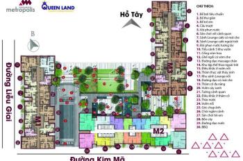 Cần bán căn hộ 2 phòng ngủ tại Vinhomes 29 Liễu Giai giá 5,6 tỷ