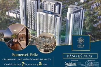 Căn hộ dịch vụ Somerset Feliz En Vista tại Q2 của Capitaland - Singapore cam kết cho thuê 35%/5 năm