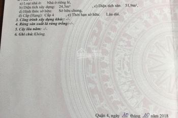 Kẹt tiền bán rẻ nhà mặt tiền Đoàn Văn Bơ, p13, Q4 - 24,5m2 chỉ 5,3 tỷ