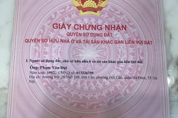 Hot, chính chủ cần bán mảnh đất nền tại khu trũng trên Đìa Các, thôn Lai Xá, Kim Chung, Hoài Đức