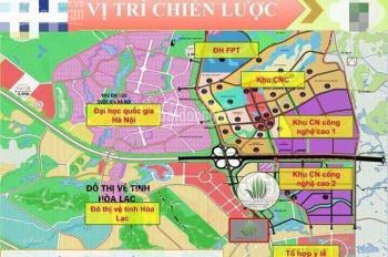 Bán đất ngay trung tâm công nghệ cao Hòa Lạc, sổ đỏ