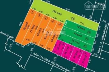 Hẻm 11 Vườn Lài, Phú Thọ Hòa, Tân Phú, chỉ với 5.5 tỷ sở hữu ngay đất ở trung tâm thành phố HCM
