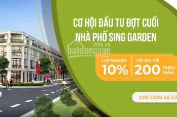 Lợi nhuận tới 10% CĐT cam kết thuê lại tại dự án Sing Garden Vsip Từ Sơn, Bắc Ninh, LH 0961993693