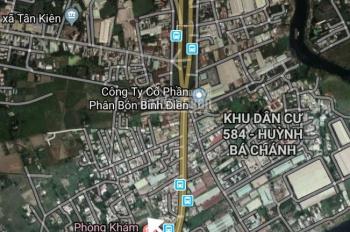 Đất Bình Chánh, mặt tiền đường Bầu Gốc, cách QL1A 50m, giá rẻ nhất khu vực, SHR, xây tự do