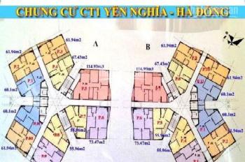 0968822071 tôi tên Hưng bán gấp chung cư CT1 Yên Nghĩa, căn 1801B, DT 60.1m2. Giá 12tr/m2 MTG