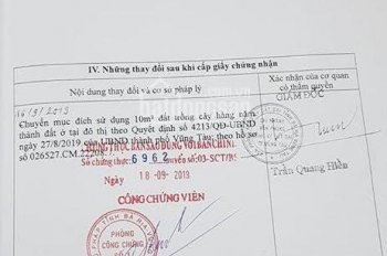 Bán đất 84.2m2 mặt tiền Chu Mạnh Trinh, Vũng Tàu 5.8 tỷ