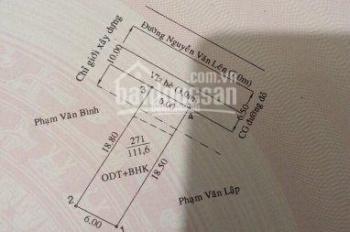 Tôi chính chủ cần bán nhà cấp 4 mặt tiền Nguyễn Văn Lên, Phú Lợi, Thủ Dầu Một, Bình Dương