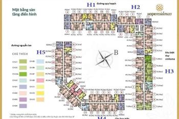 Cần bán CHCC Hope Residence Phúc Đồng, căn 1015 tòa H3, DT: 69.19m2 + giá chênh: 100tr. 0934568193