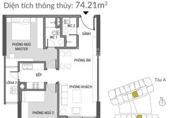 Chính chủ cần bán căn hộ 74,21m2 tầng cao ban công Đông Nam Green Pearl: 0916121215