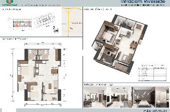 Chính chủ bán CH chung cư Intracom Đông Anh, DT: 65m2, căn số 15, giá bán 22 tr/m2. LH 0962251630
