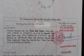 Bán đất chính chủ hẻm 935 Bình Giã phường 10 thành phố Vũng Tàu