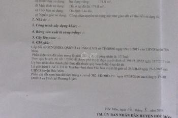 Kẹt tiền cần bán lô 180m2 cách Lê Thị Hà 100m, giá 5,5 tỷ