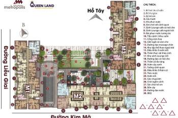 Bán lại căn hộ Vinhomes Metropolis 1 - 4 ngủ chọn căn - tầng, sổ đỏ chính chủ, xem nhà 24/7