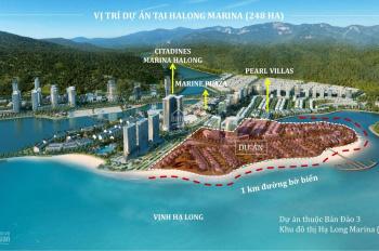 Liền kề mặt biển Bãi Cháy, DT 104 - 213m2, MT 6,5- 8,5m, bãi tắm riêng. Sổ lâu dài chỉ từ 8,3 tỷ