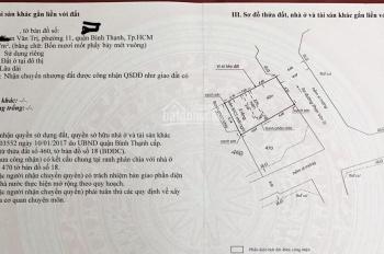 Bán lô đất địa chỉ 332/42 Phan Văn Trị 41.7m2 vuông vức