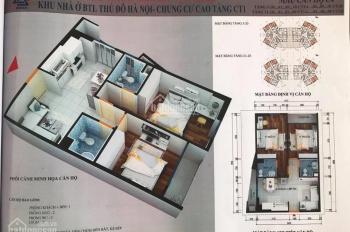 Chính chủ bán căn 2PN và 3PN chung cư CT1 Yên Nghĩa, DT 62m2 và 114m2, giá 12tr/m2. LH: 0962251630