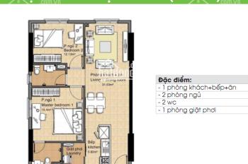 Cho thuê căn hộ chung cư Era Town Đức Khải 77m2, 2PN giá 7.5tr, liên hệ Huy 0916887727