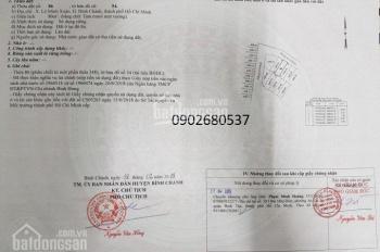 Cần tiền bán gấp đất 80m2 sổ riêng ngay Trần Văn Giàu, Lê Minh Xuân, Bình Chánh, Hiếu: 0902680537