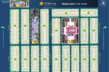 0933.443.900 suất nội bộ (Stella Mega City) đường 14m chỉ 2,1 tỷ/nền diện tích 112m2