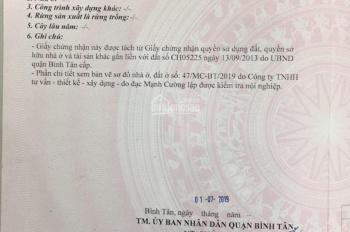Đất Hồ Văn Long - chợ Bà Hom DT 60m2 - giá 2.6 tỷ/nền