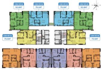 Chính chủ bán căn 2PN, rộng 74.1m2 chung cư Smile building, giá bán 1,9 tỷ. LH: 0962251630