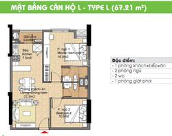 Cho thuê căn hộ chung cư Era Town Đức Khải 67m2, 2PN 2WC giá 8tr/tháng, liên hệ: 0916887727