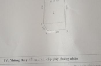 Chuyển nhượng 53m2 đất ngõ 460 khương Đình MT 4.65m, 2 mặt thoáng, ô tô cách nhà 20m, gần chung cư