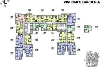Cần bán gấp căn hộ 2PN Vinhomes Gardenia Mỹ Đình cho khách Hàn cho thuê rất được giá. LH 0971896398