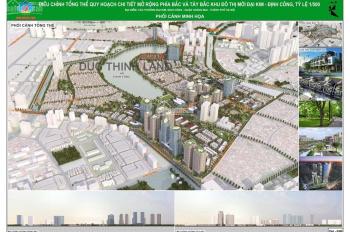 Bán suất đất biệt thự 234m2 mặt hồ Định Công