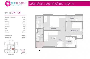 1,3 tỷ bao phí bán nhanh căn hộ 53m2 chung cư The K Park Văn Phú