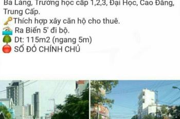 Chính chủ bán lô đất 115m2 đường Dương Hiến Quyền, TP. Nha Trang, Khánh Hòa, giá chỉ 50 triệu/m2