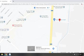 Bán đất sổ riêng mặt tiền Bình Hòa 10 giao Quốc Lộ 13, 5x18m, giá 1 tỷ 8. LH 0937535374