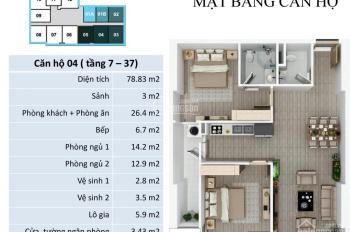 Bán căn 4, 79m2, 2PN, giá 1,32 tỷ tại chung cư FLC Star Tower Quang Trung, Hà Đông. LH 0946543583