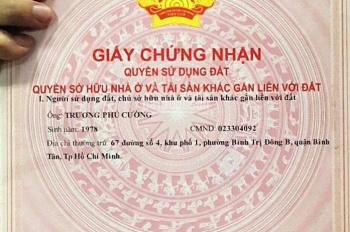 Nhà mặt tiền đường Số 4, KDC Thăng Long, BTĐB, Bình Tân