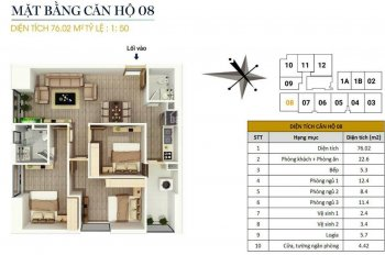 0946543583. Bán căn góc 08, 76m2, 3PN tại CC FLC Star Tower 418 Quang Trung, Hà Đông, giá 1,5 tỷ