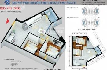 Gia đình mới bốc thăm được quỹ căn đóng 50tr tại chung cư CT1 Yên Nghĩa cần bán gấp. 03 3916 3916