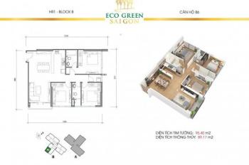 Căn hộ Eco Green Sai Gon TT chỉ 30% nhận nhà, đã cất nóc ngày 18/8/2019 - CK khủng, 0934853508