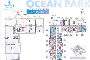 Chuyển nhượng lô shop đế VIP mặt sảnh S2.11 vị trí trung tâm Vinhomes Ocean Park, LH: 0971.996.199