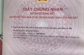 Chính chủ bán lô đất 80m2, sổ hồng riêng gần Vsip 1 Việt Sing giá 1,5 tỷ, gần ST Aeon. 0984.046.022