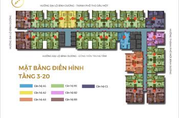 Nhận ký gửi căn hộ Happy One chênh lệch thấp, thanh toán theo tiến độ, LH 0906.450.552