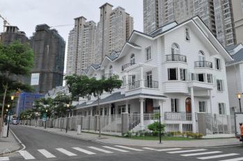 Cho thuê biệt thự song lập khu Sài Gòn Pearl làm văn phòng, 1 trệt 3 lầu DTSD 450m2 giá 92 tr/th
