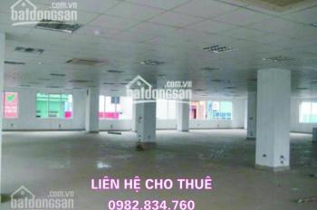 Cho thuê văn phòng giá rẻ tại TT Cầu Giấy. DT: 500 - 1000m2, giá 210 nghìn/m2/tháng