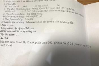 Bán đất nền thổ cư chính chủ gửi, mặt tiền KDC Nam Khang, Nguyễn Duy Trinh, Q9