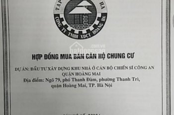 Cần bán căn hộ 2305A chung cư cán bộ chiến sĩ 79 Thanh Đàm Hoàng Mai