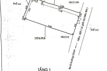 Chính phủ cần bán nhà hẻm 1 sẹc Trường Chinh, Q12. DT 7*16m, giá 4.8 tỷ