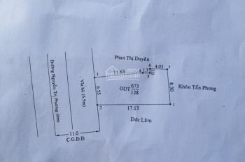 Bán đất MT đường Nguyễn Tri Phương (6.50m nở hậu 8.3x18m= 128m2 P Chánh Nghĩa, TP Thủ Dầu Một