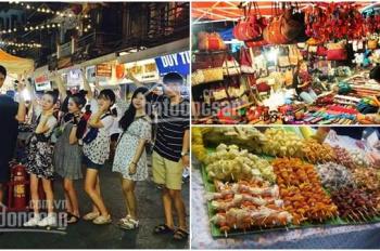 Sang sạp (ki - ốt) khu ăn uống chợ đêm Đức Hoà, Long An. Bao đông khách